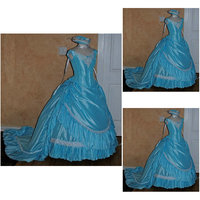 R 047 Victorian Gothic/Civil War Southern Belle loose Ball Gown Dress Halloween Vintage dresses Custom made