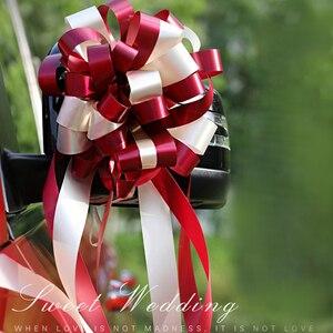 Conjunto de 10 unidades de cintas de lazo DIY para decoración de boda o fiesta de cumpleaños, ideal como regalo, decoración romántica para el hogar o el coche, cintas A presión con flores