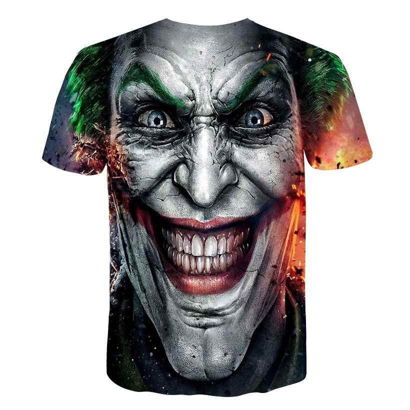 Джокер комиксы супергерой 3D принт футболка для женщин и мужчин летняя футболка Харли Куинн Carnage модная футболка Топы Плюс Размер 4XL 5XL