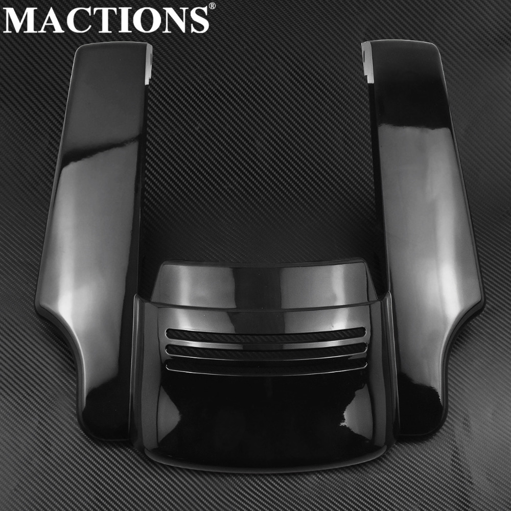 Bright Black Stretched Rear Fender Extension For Harley Touring Street Road Glide 2014 2015 2016 2017