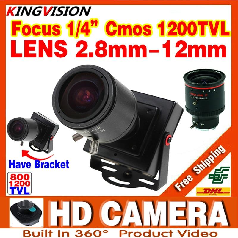 New Product Mini Manual focusing 2 8m 12mm 1200TVL Djustable Lens Color Video HD CCTV Security
