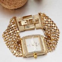 Luxury Brand Bracelet Watch Women Bling Rhinestone Decoration Quartz Watch Vintage Dress Formal Wedding Party Relogio