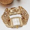 Pulseira Mulheres Relógio Marca de luxo Que Bling Strass Decoração De Quartzo-relógio Relogio Femilino Casamento Formal Do Partido Do Vestido Do Vintage