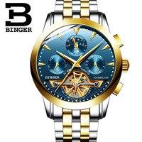 BINGER Sport Herren Uhren Top Marke Luxus Edelstahl Automatische Mechanische Männer Uhr Klassische Männlich Uhren Hohe Qualität