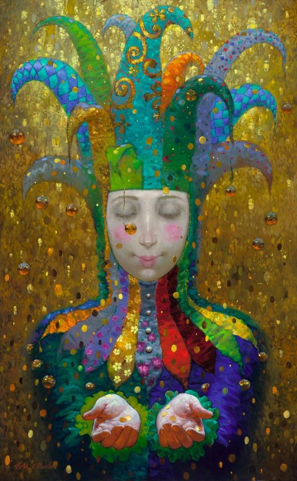 Moderní umění Victor Nizovtsev Plátno Obrazy olejomalba Dětský pokoj Vánoční ozdoby Nástěnný obrázek nejlepší vánoční dárek vk03
