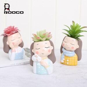 Image 3 - Roogo flower pot decorative succulent plant Pot wedding gifts birthday present balcony decorations home decoration accessories