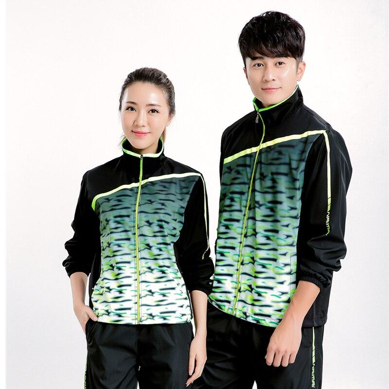Vêtements d'automne et d'hiver, badminton hommes chemise à manches longues veste femmes tennis de table sport T-shirt + pantalon chemise à manches longues