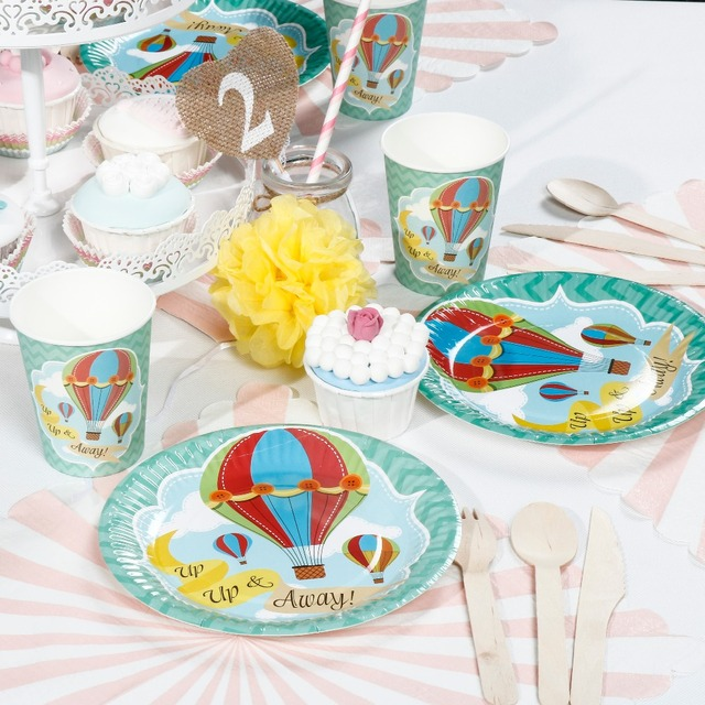 Hot Air Balloon Theme Paper Plate Set Birtyday Party Supplier Baby Shower Party Decoration Disposable Tableware  sc 1 st  AliExpress.com & Hot Air Balloon Theme Paper Plate Set Birtyday Party Supplier Baby ...