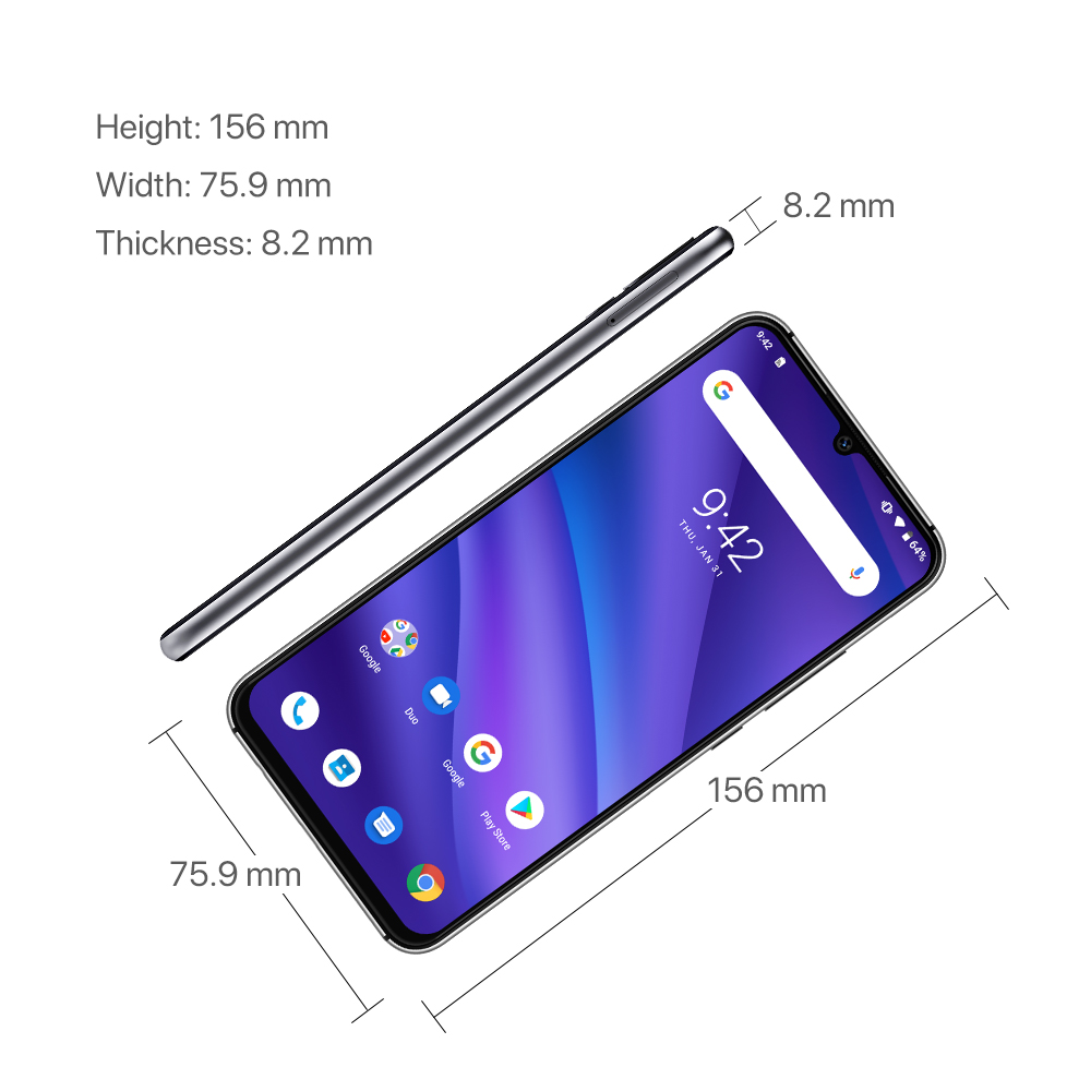 UMIDIGI A5 Pro Global Version16MP Triple caméra Android 9.0 6.3 'FHD + 4150mAh grande batterie Octa Core 4GB + 32GB Smartphone 2 + 1 fentes - 4
