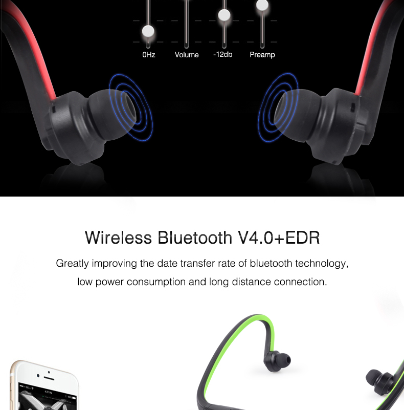 Wireless Bluetooth Earphones with Microphone Neckband Headphones for Mobile Phone Sweatproof Bluetooth Headset for Xiaomi iPhone (3)