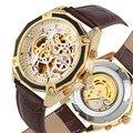 Роскошные автоматические механические часы со стальным скелетом для мужчин  Модные Классические Механические наручные часы с черным цифер...