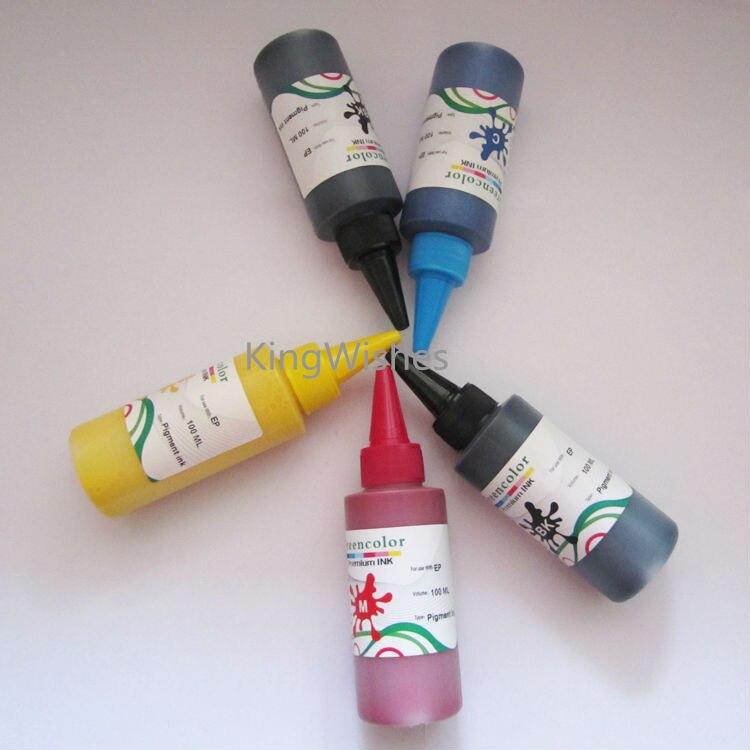 ФОТО 5PCS x 100ML T1191 T1191 T1092 T1093 T1094 Pigment Ink For Epson ME OFFICE 70 1100 BK BK M Y C