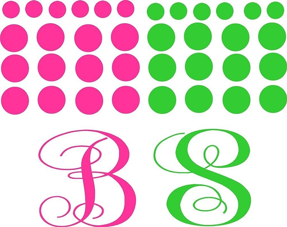 custom names dacals monogram polka dot kit vinyl decals lettering stickers decorchina mainland