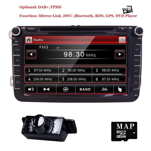 8 2din Car Dvd Player Autoradio For Vw Passat B6 B5 Cc Skoda