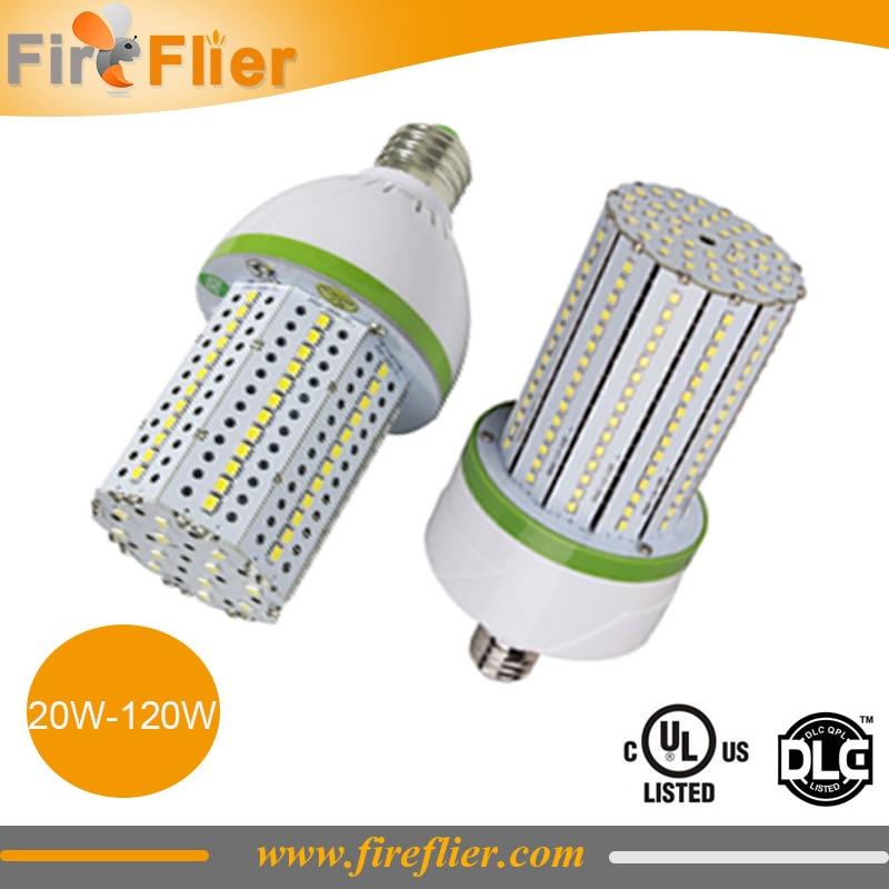 24pcs/lot factory sell 20w 30w 50w corn led 80w e40 e39 e27 e26 corn lamp UL DLC led industrial bay light bulb 100w 120w 60w