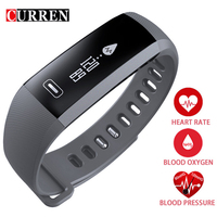CURREN R5 Bluetooth Smart wrist Band Heart rate Blood Pressure Oxygen Oximeter Sport Bracelet Watch intelligent For iOS Android