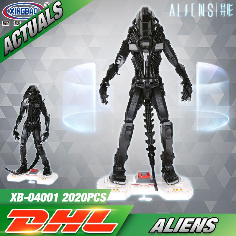 XingBao 04001 2020Pcs Genuine Creative Movie Series The Alien Robot Set children Educational Building Blocks Bricks Toys Model