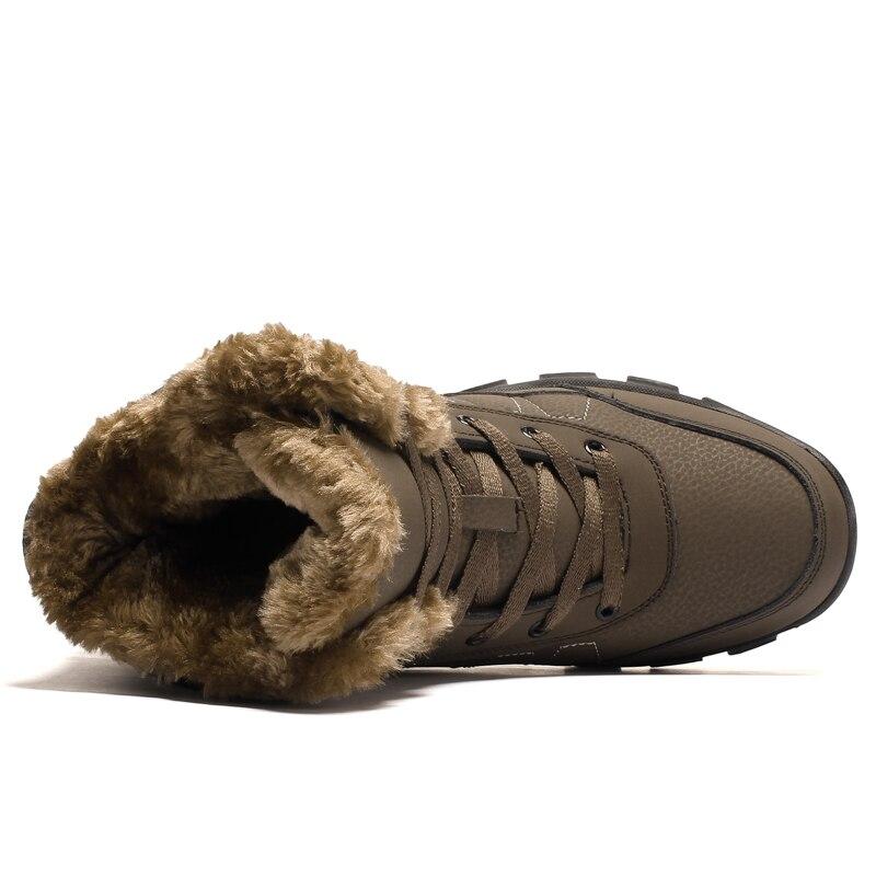 Avec Haute En De Qualité Hommes Hiver Bottes Cuir Chaudes Garder Cheville Fourrure Chaussures Casual Black brown Zenvbnv Neige Pour Fahsion qPAwt6PC