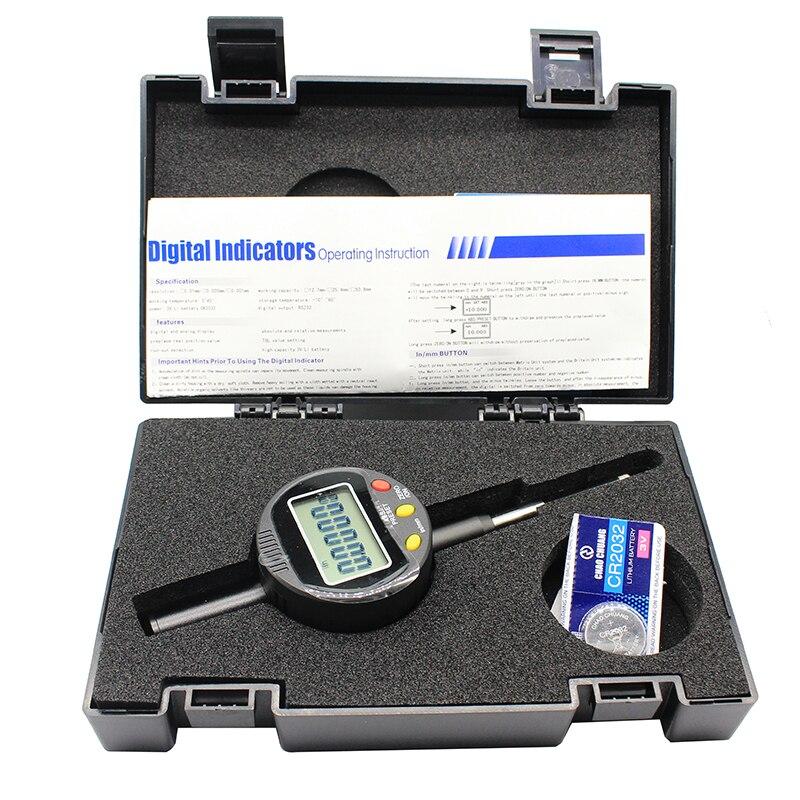 1PC High Precision digital Indicators 0 25 4x0 001mm Digital Display Percentile ratio Dial Indicator Range 0 25 4mm in Dial Indicators from Tools