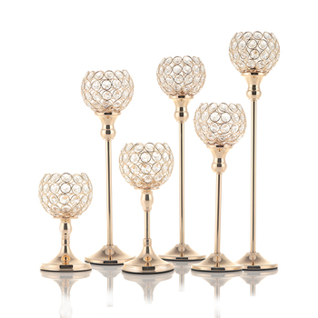 Crystal Tealight Candle Holders Metal Glass Candlesticks Wedding Table Centerpieces for Home Decoration Hogar Moderno moroccan decor candle holders crystal handmade 9 arms wedding centerpieces for tables home decoration candelabra