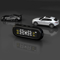 Car Tire Pressure Alarm Monitor System Solar TPMS Display With 4 Sensors Car Tyre Check Monitor Tool