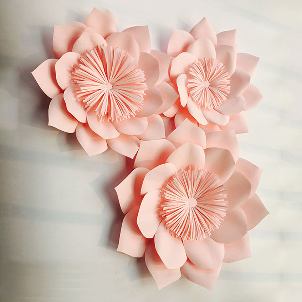 3pcs Giant Paper Flowers For Party Wedding Decor For Photo