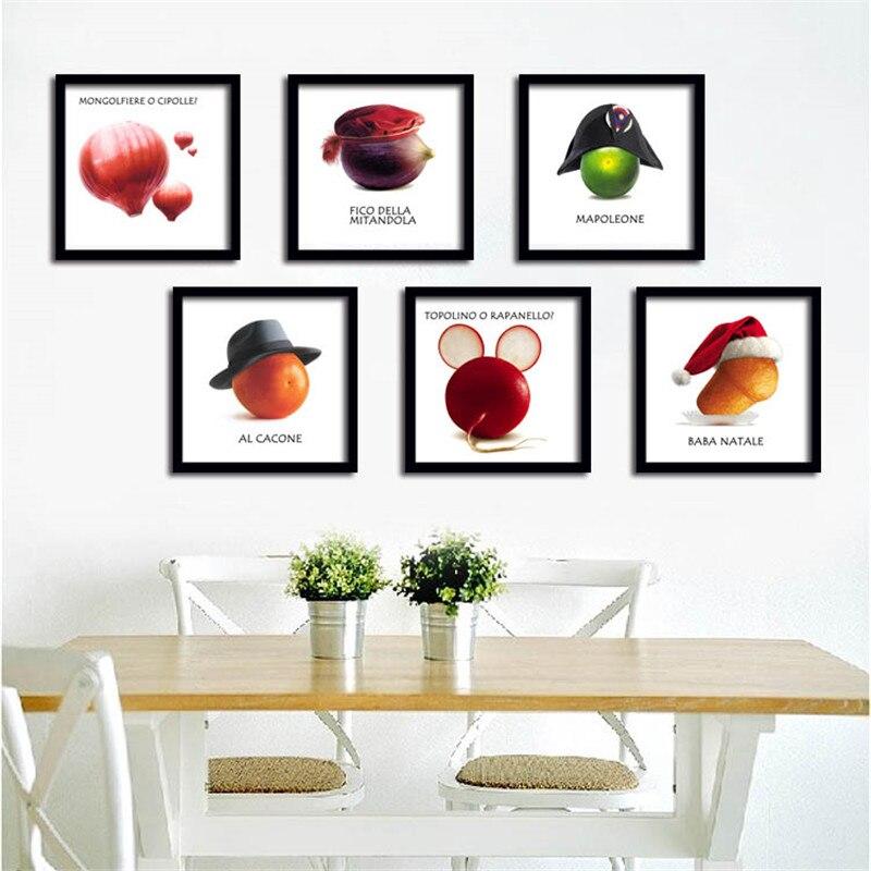 Kreatív művészet Vászon Festmény Poszter Gyümölcsök Zöldség vászonon Fal Képek Az ebédlőnek Konyha Otthoni dekoráció Nincs keret