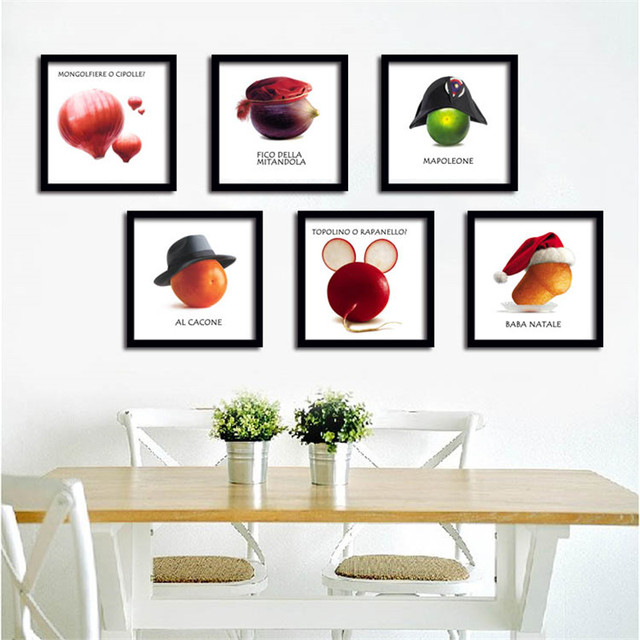 Creative Art Canvas Painting Poster Fruits Vegetables On Wall Pictures For Dining Hall Kitchen Home
