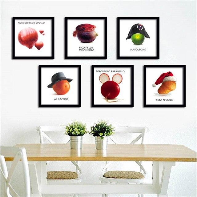 Kreative Kunst Leinwand Malerei Poster Obst Gemüse auf leinwand Wand ...