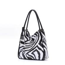 Fashion Zebra Women Handbags New 2016 Casual Tote Lady Zipper Shoulder Bag