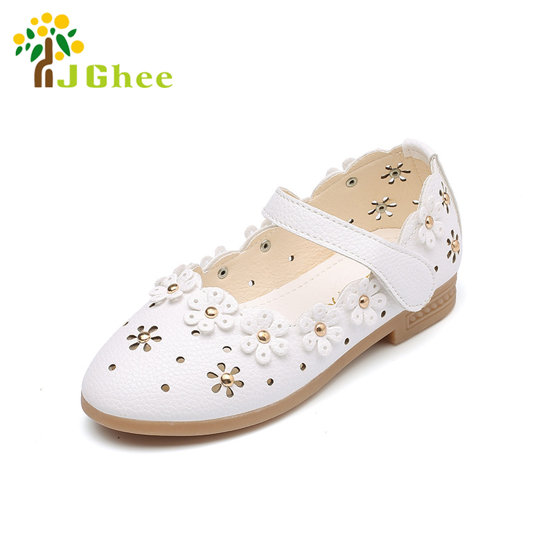 PU Leather Shoes For Girls Toddler Baby Girl Flats Flowers Cut outs Princess Kids Shoes Children Girls Soft Shoes 21 36|kids shoes|shoes for girls|leather shoes for girls - title=