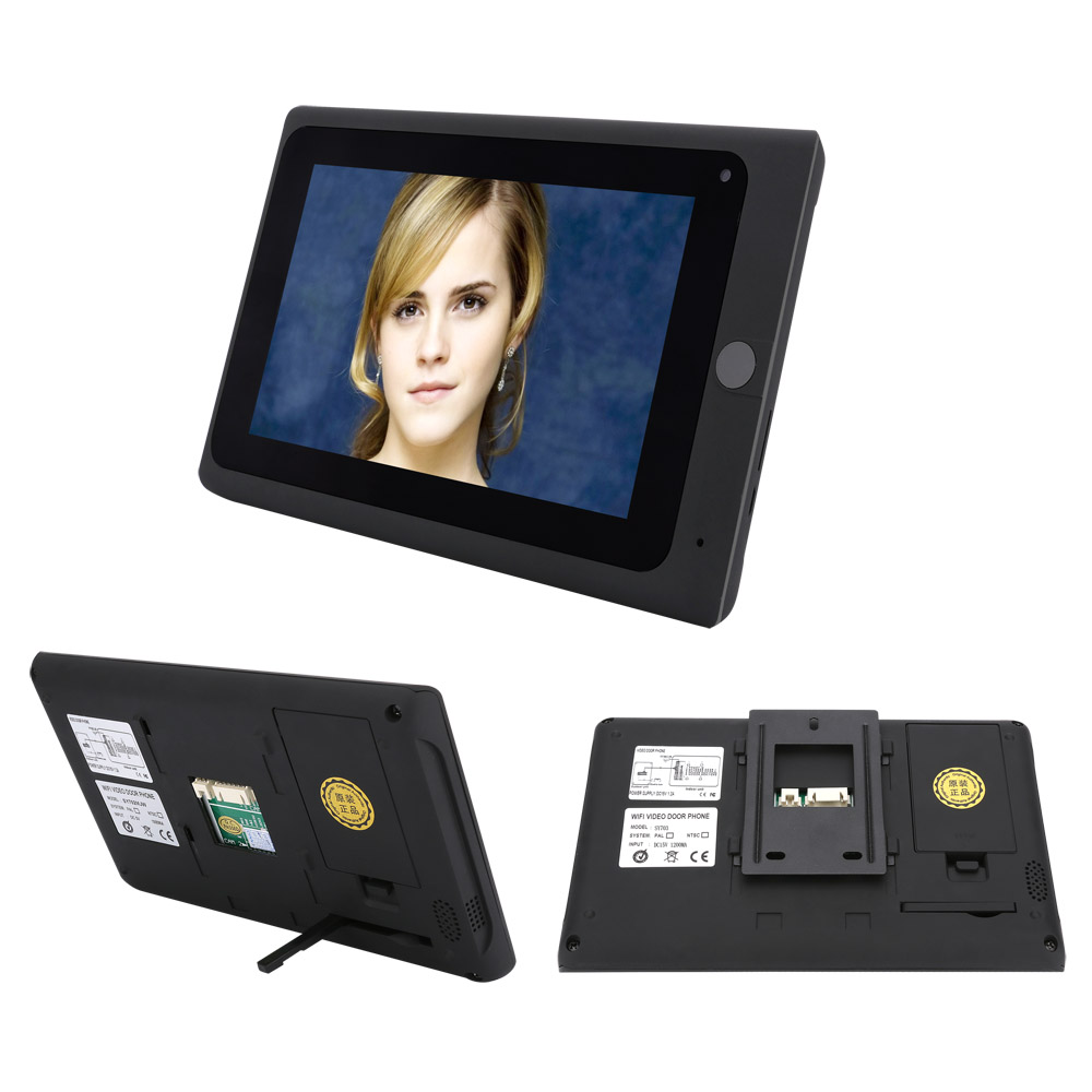 SmartYIBA 1000TVL ID Cards Password Unlock No Lock Strike E-lock Video Door Bell WIFI Video Door Phone+12V Power Supply Control
