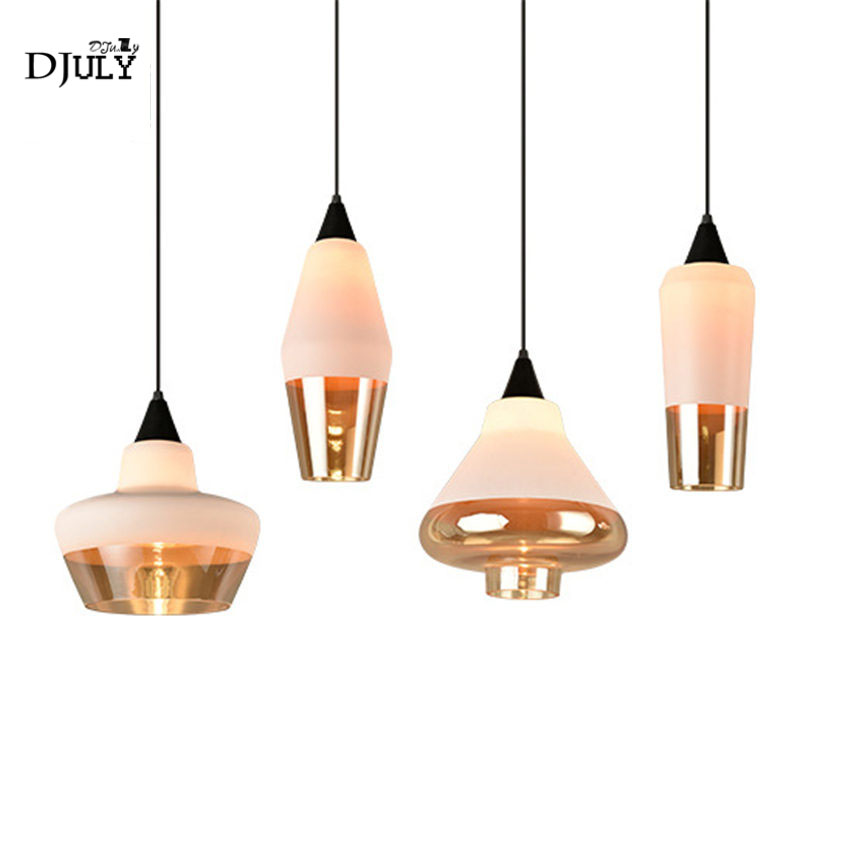 Nordic Postmodern Ins Stained Glass Pendant Lights For Living Room Kitchen Creative Coffee Store Bar Loft Hanging Lamp Fixtures