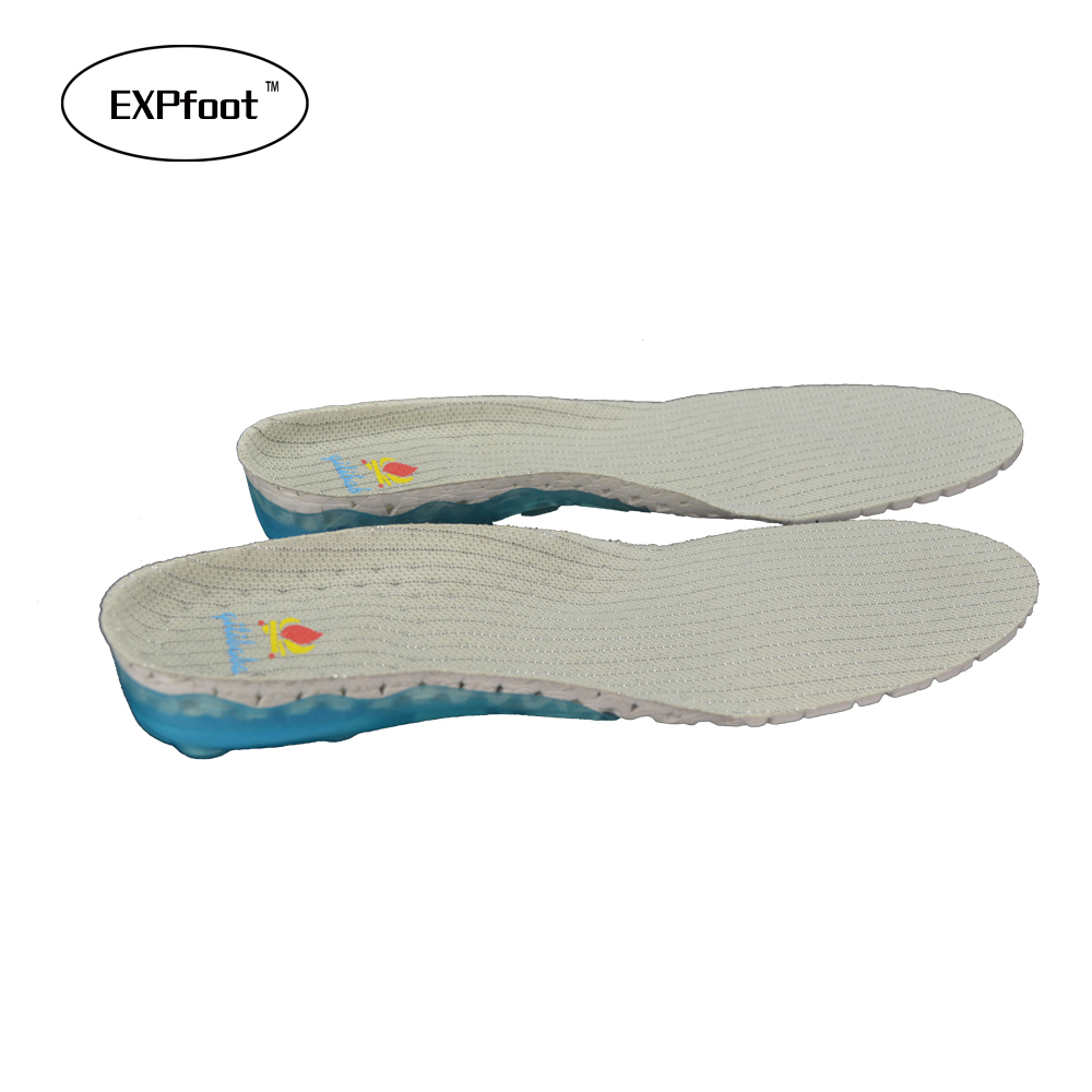 Spring Silicone Shock Absorption Sports Insole Arch Support for flat foot Height Increasing with Antibacterial Bamboo Fabric 54