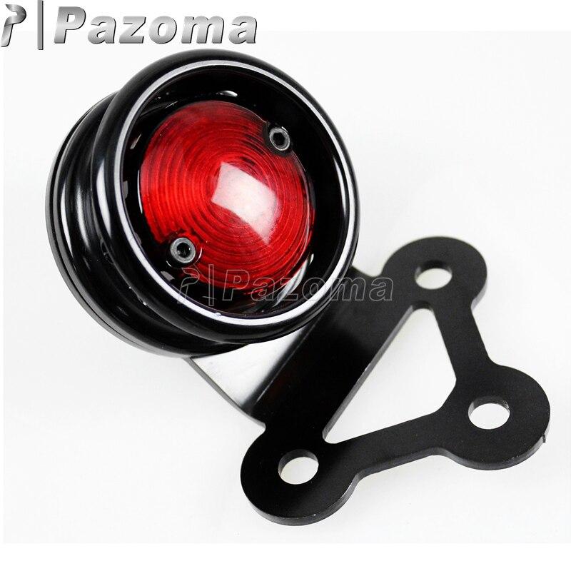 Black Aluminum Brake Tail Light License LED Light Fit for Harley Dyna Softail
