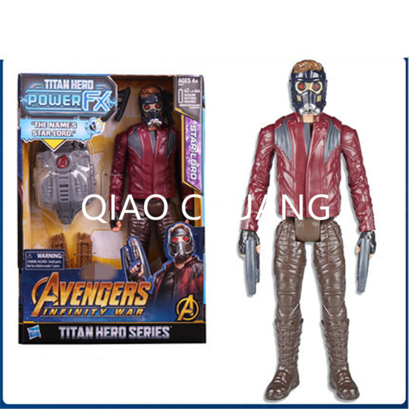 The Avengers 3 With Sound Module Peter Guardians Of The Galaxy Star-Lord Peter Jason Quill PVC Action Figure Bambola G1170 1 6 figure doll head shape 12 action figure accessories guardians of the galaxy star lord peter quill chris pratt head carved