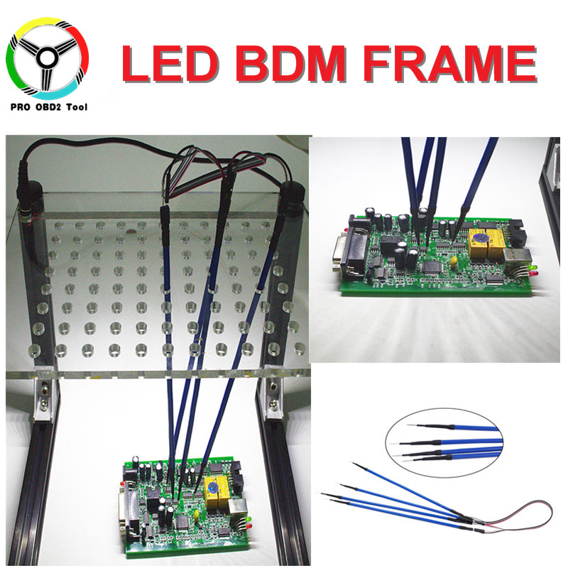 LED BDM Frame With 4 Probes Fit For Kess Ktag Ktm100 Fgtech BDM100 Better Than Old BDM Frame Upgrade ECU Programming Adapter