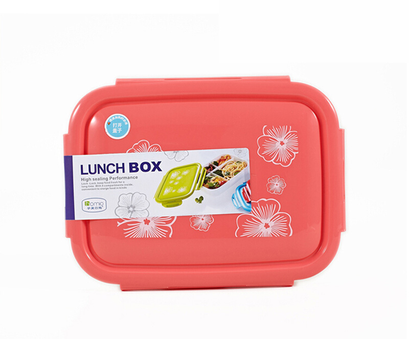 New Plastic Lunch Bento Box Microwave Bento Box Student Lunch Boxs Free Shipping