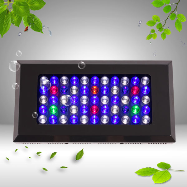 HOT dimmable Led aquarium light 165W for coral reef tank lighting with 55pcs 3W brifgrlux chip led,high quality Dropshipping