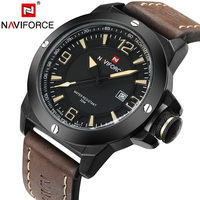 New Mens Watches Top Brand NAVIFORCE Luxury Men Quartz Watch Casual Sport Military Watches Male Leather