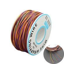 30AWG обёрточная бумага ping провода 0,25 мм Оловянная Медь 8 цветов провода обёрточная бумага кабель Джемпер провода кабель для материнской платы ЖК-дисплей тесты кабель