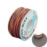30awg 포장 와이어 0.25mm 주석 도금 구리 8 색 와이어 랩 케이블 점퍼 와이어 케이블 마더 보드 lcd 디스플레이 테스트 케이블|와이어 및 케이블|   -