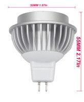 Cob levou downlight cob mr16 fonte 6 p/set Light-emitting diode 5 W lentes de vidro AC/DC12V cor Sólida led cob chip com CE/ROHS