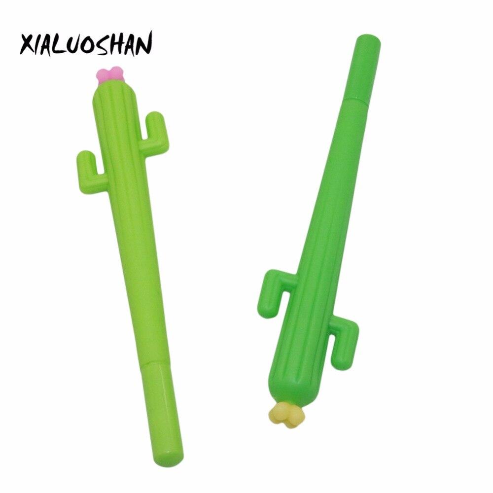 0.38mm Novelty Cute 3D Green Cactus Cacti Succulent Plants Gel Ink Pen Kawaii Escolar Papelaria School Office Supply