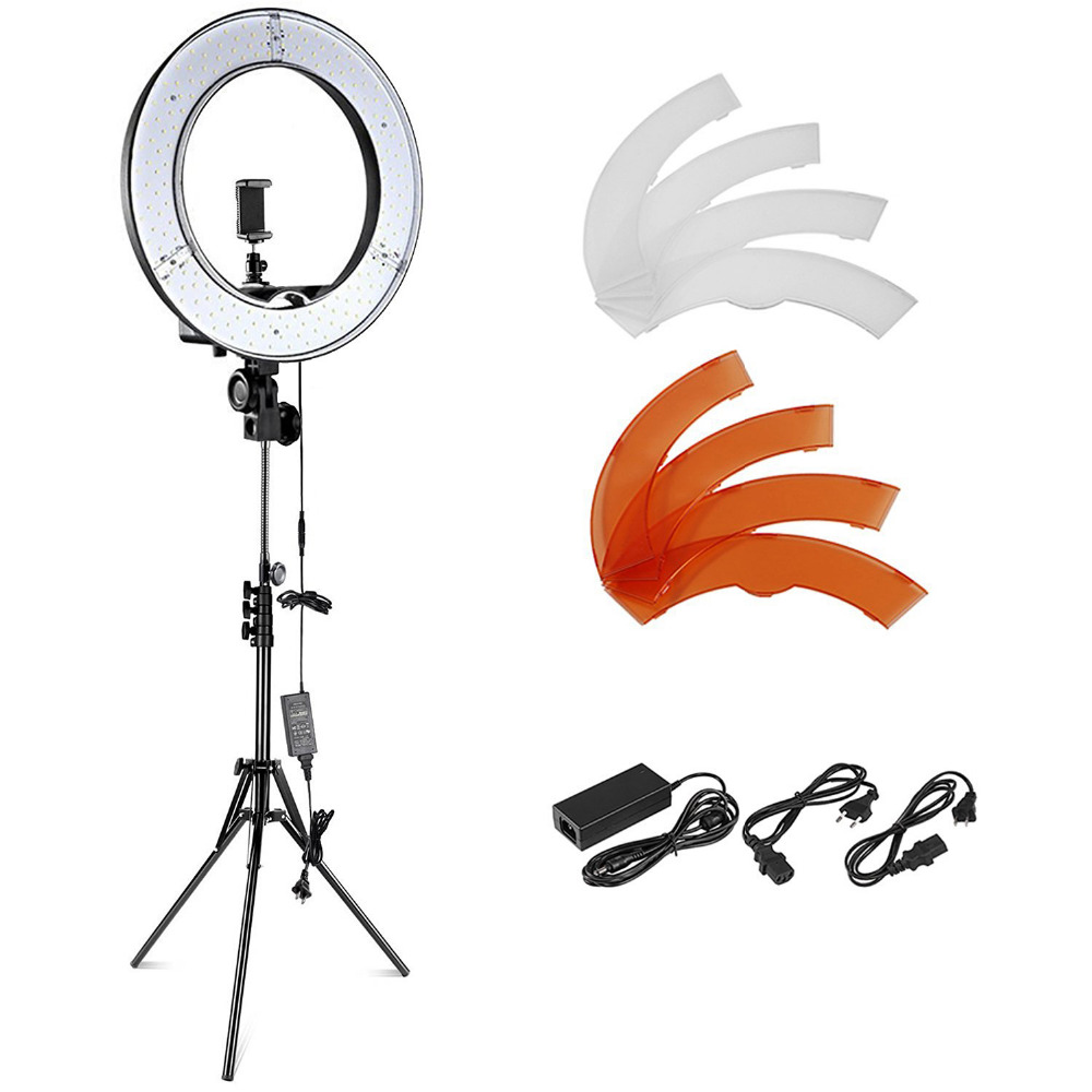 Neewer 18 Inches 55W 5500K Dimmable LED Ring Light+Light Stand+Bluetooth Receiver for Smartphone/Youtube/Selfie/Makeup Light