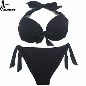 Image 4 - EONAR 2020 Bikini katı mayo kadınlar Push Up Bikini seti brezilyalı kesim/klasik alt mayo seksi artı boyutu mayo