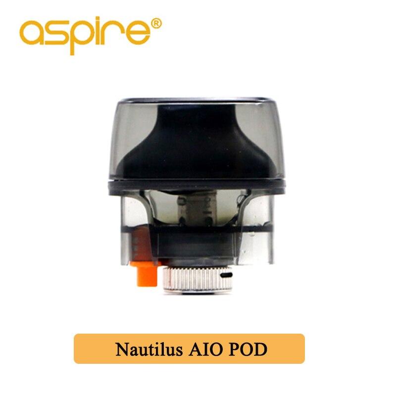 Aspire Nautilus AIO Pod Vape Atomizer 4.5ml/2.0ml Capacity Nautilus bvc coil Electronic Cigarette Vape Tank For Nautilus AIO Kit цена