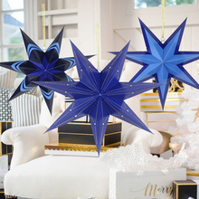 Merry Christmas 40cm / 45cm 60cm Decorative Star Tree Decoration Home Hanging Elements Paper