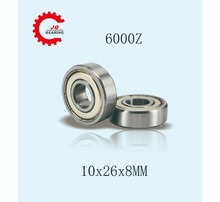 JQ Bearings 10 Pieces Aperture High Quality Deep Groove Ball Bearing 6000 6000Z 10x26x8 Double Shielded With Metal Shields Z/Z 120mm aperture high quality deep groove ball bearing 6024 120x180x28 open ball bearing