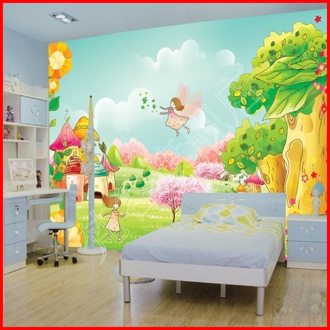 Custom large murals wall 3d wallpaper for walls roll child for Fabrics for children s rooms